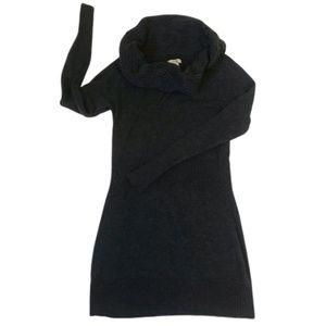 Cache Cowl-Neck Turtleneck Sweater Dress XS